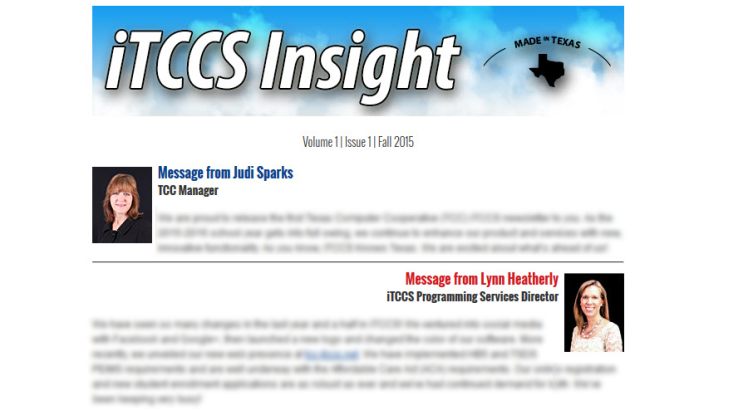 iTCCS Insight Newsletter Image